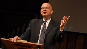 "Tim Keller gives a vision of ""Gospel-Centered Ministry.""  Picture by Peter Artemenko"