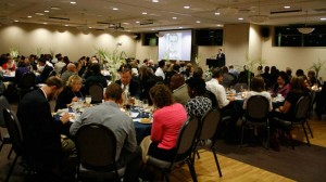 More than 130 friends of Trinity gathered for an evening banquet to commemorate Carl Henry's relationship to Trinity.