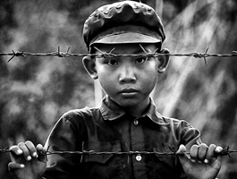 Khmer Rouge Boy (1998) photograph by David Longstreath
