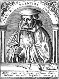 Johann Brenz (24 June 1499 – 11 September 1570)
