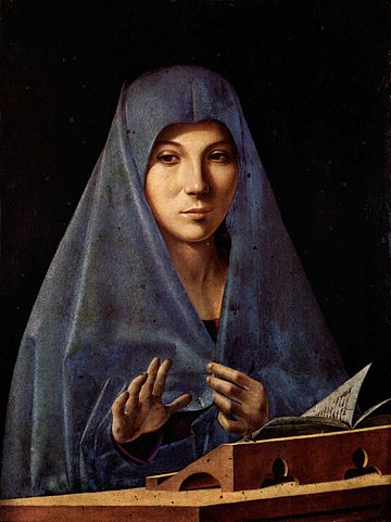 Virgin Annunciate, Antonello da Messina 360x480