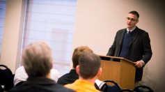 """Oliver Crisp lectures on the """"rhetorical power"""" of the Spirit in the preached word"""