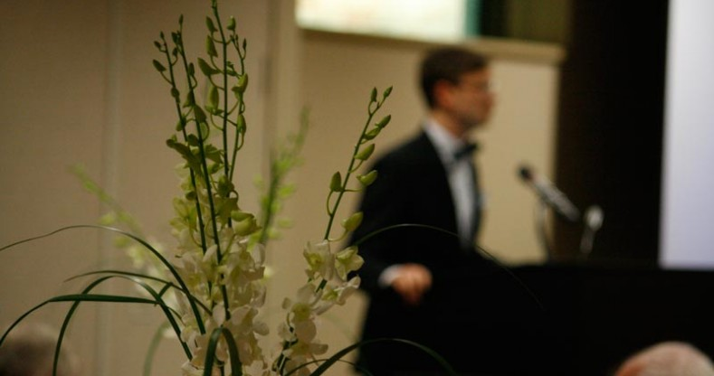 Gregory Thornbury delivered his moving address to the Trinity community.
