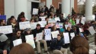 Students protest at Wheaton College