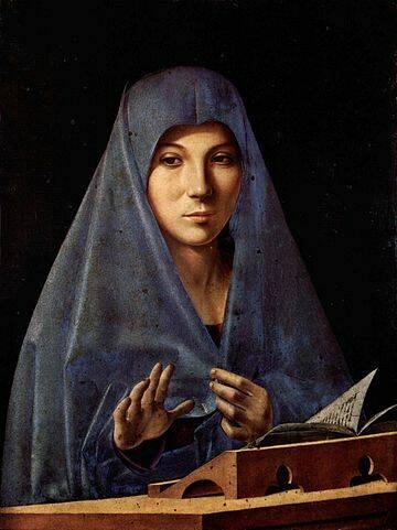 Virgin Annunciate, Antonello da Messina 360x480